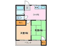 コーポ阪野(池上台)[2階]の間取り