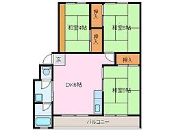 ティアイマンション[1階]の間取り
