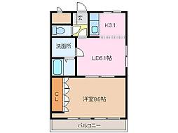 愛知県名古屋市緑区鎌倉台2の賃貸アパートの間取り