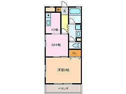 愛知県名古屋市緑区鳴海町字作町の賃貸マンションの間取り