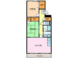 愛知県名古屋市緑区大高町字砂畑の賃貸マンションの間取り