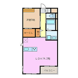 愛知県名古屋市緑区鳥澄1丁目の賃貸マンションの間取り