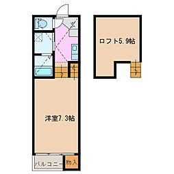 Loft14野並[1階]の間取り