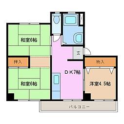 愛知県名古屋市緑区太子3丁目の賃貸マンションの間取り