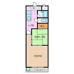 新日ビル豊明マンション[4階]の間取り