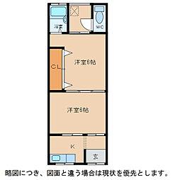 幸荘[2階]の間取り