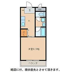 ウイングサンスカディ[1階]の間取り