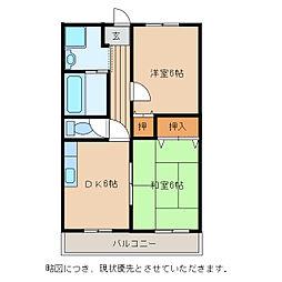 Chez-soi TATSUMI[4階]の間取り