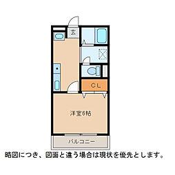サンウィング[3階]の間取り