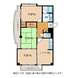 滋賀県東近江市佐野町の賃貸マンションの間取り