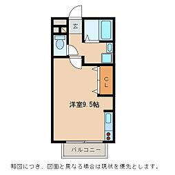 セジュール都[1階]の間取り