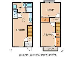 [テラスハウス] 滋賀県東近江市小脇町 の賃貸【/】の間取り