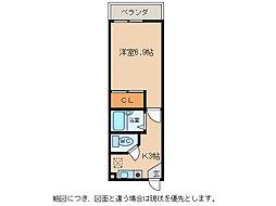 滋賀県東近江市妹町の賃貸アパートの間取り