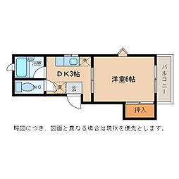 滋賀県愛知郡愛荘町野々目の賃貸アパートの間取り