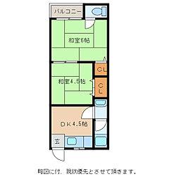 岡俊アパート[2階]の間取り