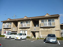 滋賀県愛知郡愛荘町東円堂の賃貸アパートの外観