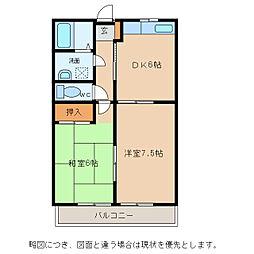 サンクレールI[2階]の間取り