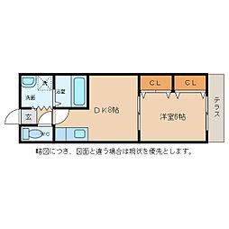 セイコーズマンション日野[2階]の間取り