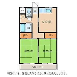 シャインハイツヨシザワII[2階]の間取り