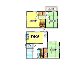 JR内房線 長浦駅 徒歩15分の賃貸一戸建て 1階3DKの間取り