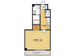 静岡県湖西市新居町浜名の賃貸マンションの間取り