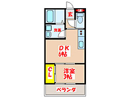 JR日豊本線 姶良駅 徒歩11分の賃貸アパート 1階1DKの間取り