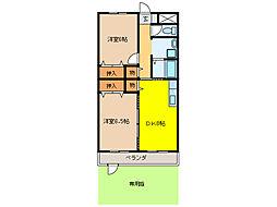 惣武マンション[1-B号室]の間取り