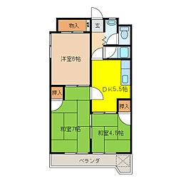 入山ビル[3階]の間取り