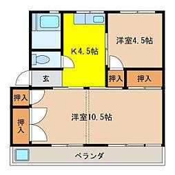NKビル[2-3号室]の間取り