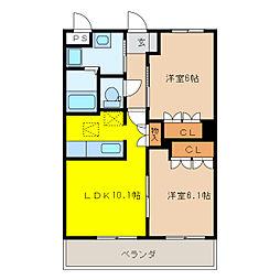 エタニティ・プレステージ[1階]の間取り