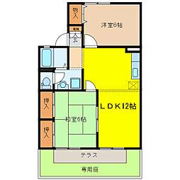KUWA HOUSE[1階]の間取り