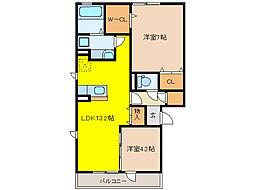 PRINCESS MOTOIMA[2階]の間取り