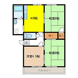 メゾンドRI[2階]の間取り
