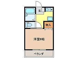 コ−ポアリッサム[1階]の間取り