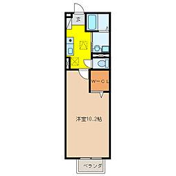 モナリエ城見II[1階]の間取り