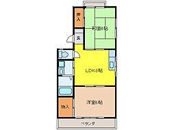 メゾン菊薗[2階]の間取り