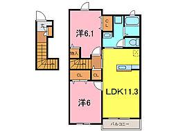 ティンカーベル II[2階]の間取り