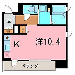 愛知県刈谷市東陽町3丁目の賃貸マンションの間取り