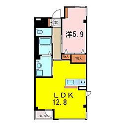 仮)S・M様賃貸マンション[2階]の間取り