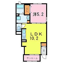 フォレストライト藤[1階]の間取り