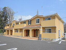 茨城県古河市下辺見の賃貸アパートの外観
