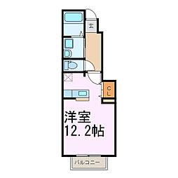 ライフサークルパート12[102号室]の間取り
