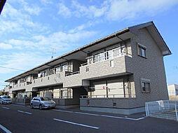 茨城県古河市小堤の賃貸アパートの外観