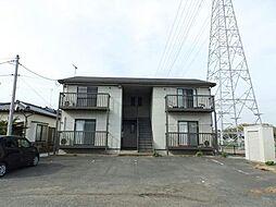 茨城県古河市仁連の賃貸アパートの外観