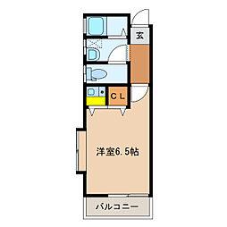 オーケーハイツ[2階]の間取り
