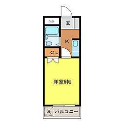 JPアパートメント高砂[802号室]の間取り