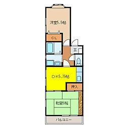 エクレールⅢ[2階]の間取り
