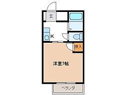 ドミールY・Y[1階]の間取り