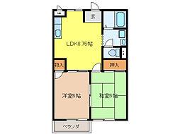 K`S HOUSE[C104号室]の間取り