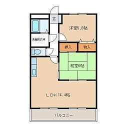 サウスバレー21[2階]の間取り